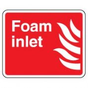 Fire safety sign - Fire Foam Inlet 086